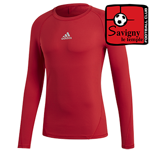 SOUS-MAILLOT MANCHES LONGUES ROUGE SAVIGNY LE TEMPLE FOOTBALL CLUB I MFTE01433-E
