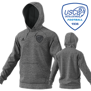 SWEAT CAPUCHE CORE 18 GRIS US CRETEIL LUSITANOS FOOTBALL I MFTE01484-D