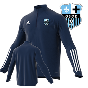 SWEAT ADIDAS TRAINING CONDIVO 20 MARINE OSC ELANCOURT FOOTBALL I MFTE01613-C I FS7124 & FS7121
